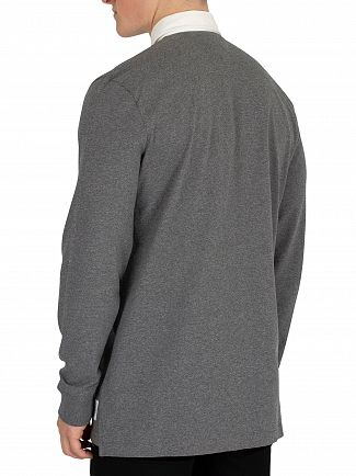 Tommy Jeans Dark Grey Heather Essential Rugby Poloshirt