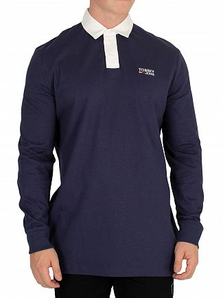 Tommy Jeans Black Iris Essential Rugby Poloshirt