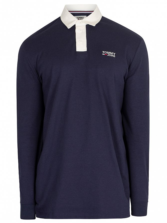 9952fb2e Tommy Jeans Men's Essential Rugby Poloshirt, Blue | eBay