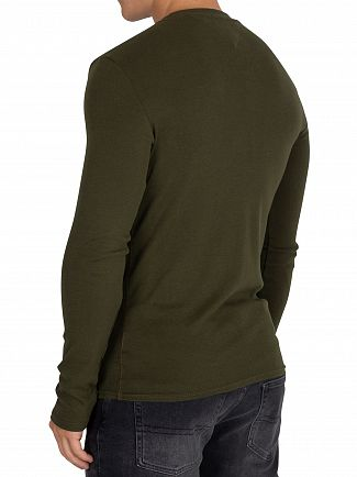 Tommy Jeans Forest Night Slim Rib Longsleeved T-Shirt