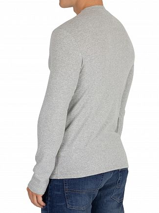 Tommy Jeans Light Grey Heather Slim Rib Longsleeved T-Shirt