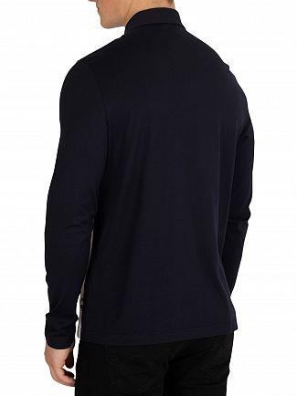Aquascutum Navy Abner Longsleeved Poloshirt