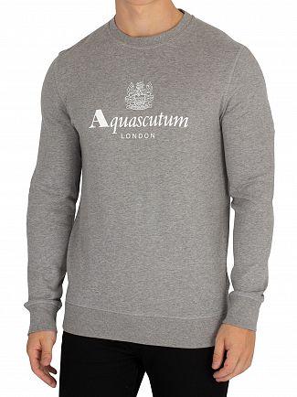 Aquascutum Grey Melange Henry Sweatshirt