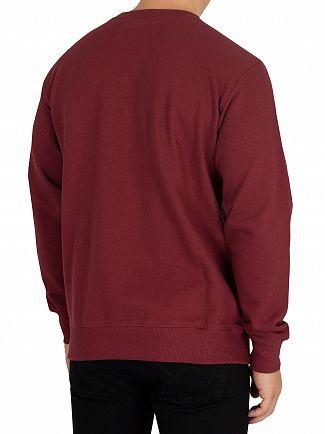 Calvin Klein Jeans Tawny Port Institutional Sweatshirt