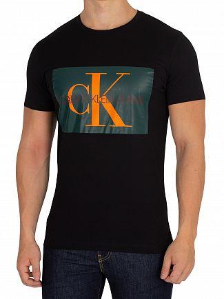 Calvin Klein Jeans Black/Jolly Green Monogram Box T-Shirt