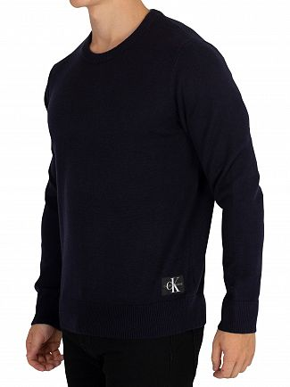 Calvin Klein Jeans Night Sky Wool Blend Monogram Knit