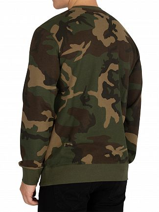 Carhartt WIP Camo Laurel/White College Sweatshirt