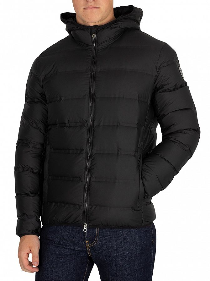 EA7 Black Down Jacket