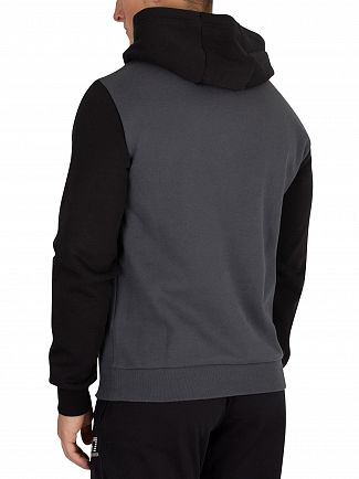 EA7 Anthracite Graphic Pullover Hoodie
