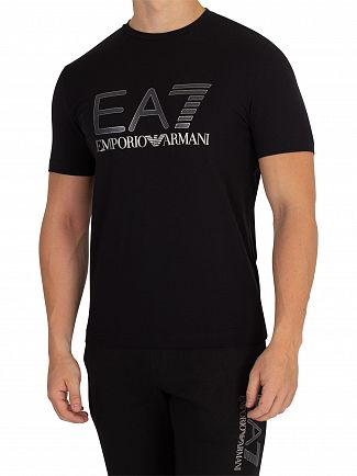 EA7 Black Graphic T-Shirt