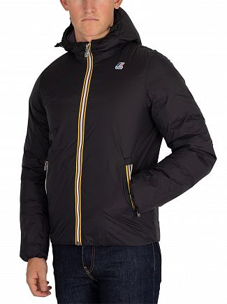 K-Way Black/Grey Jacques Thermo Plus Reversible Jacket