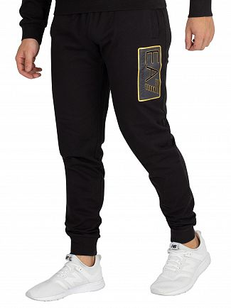 EA7 Black/Gold Patch Joggers