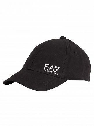 EA7 Black/White Train Core Baseball Cap