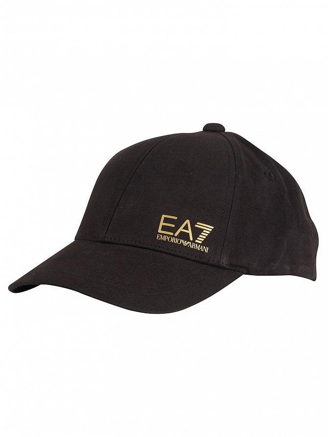 EA7 Black/Gold Train Core Baseball Cap