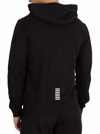 EA7 Black Zip Hoodie