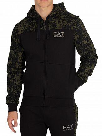 EA7 Black/Camo Zip Hoodie