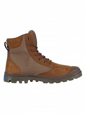 Palladium Bridle Brown/Moon Mist Pampa Sport Cuff WPN Boots