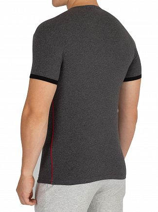 Emporio Armani Black/Melange Grey Crew Neck T-Shirt