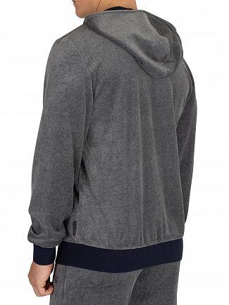 Emporio Armani Dark Grey Melange Zip Hoodie