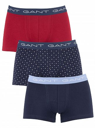 Gant Navy 3 Pack Trunks