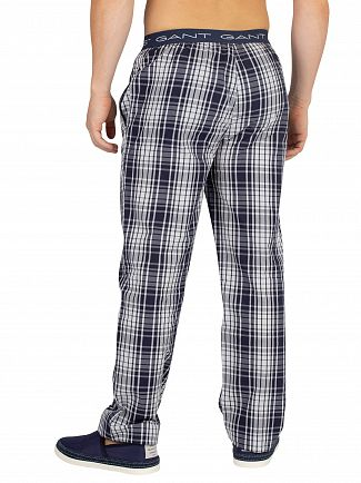 Gant Navy Check Woven Pyjama Bottoms