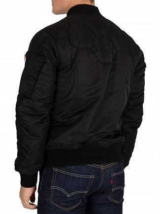 G-Star Dark Black Vodan Quilted Bomber Jacket