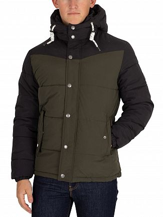 Jack & Jones Forest Night New Fagure Puffer Jacket