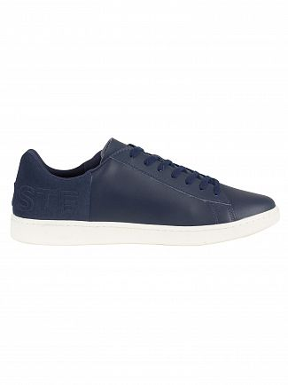 Lacoste Navy/Off White Carnaby Evo 418 1 SPM Leather Trainers