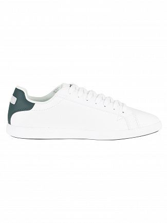 Lacoste White/Dark Green Graduate LCR3 118 1 SPM Leather Trainers