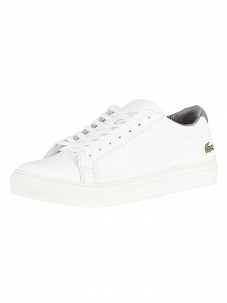 Lacoste White/Grey L.12.12 317 4 CAM Leather Trainers