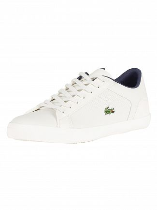 Lacoste Off White/Off White Lerond 418 1 CAM Leather Trainers