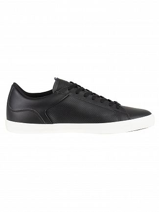 Lacoste Black/Black Lerond 418 1 CAM Leather Trainers