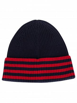 Lacoste Marine Striped Beanie
