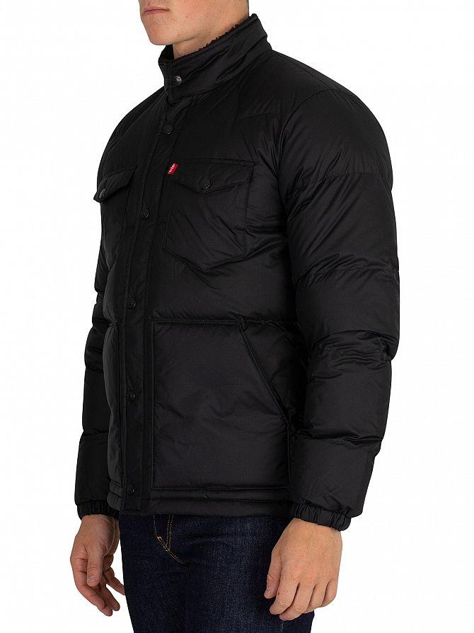 Puffer Jacket Black Levi's Barstow Down Men's qU0wttnxOv