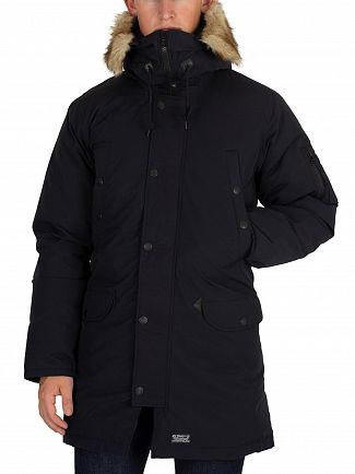 Levi's Black Down Davidson Parka Jacket