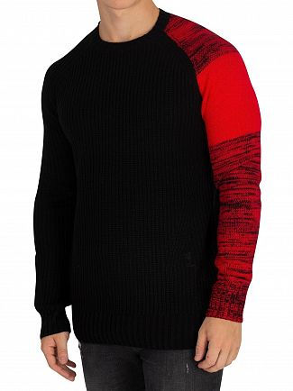 Religion Black/Red Curse Knit