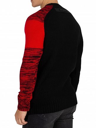 Religion Black/Red Curse Knit