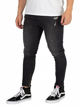 Religion Ripper Black Edge Jeans