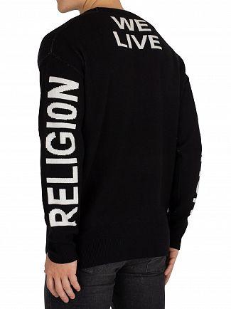 Religion Black/White Live In Black Knit
