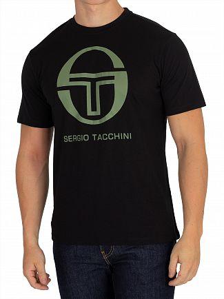Sergio Tacchini Black/Olivine Iberis T-Shirt
