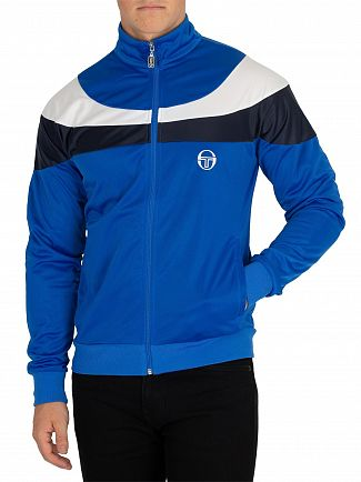 Sergio Tacchini Royal/White Fohn Logo Track Jacket