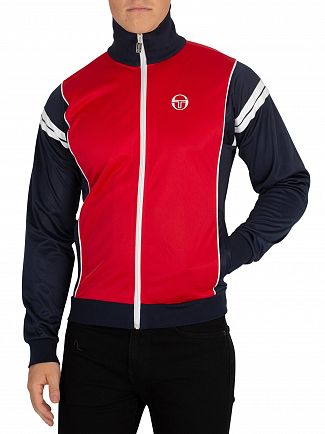 Sergio Tacchini Red/Navy Scirocco Logo Track Jacket