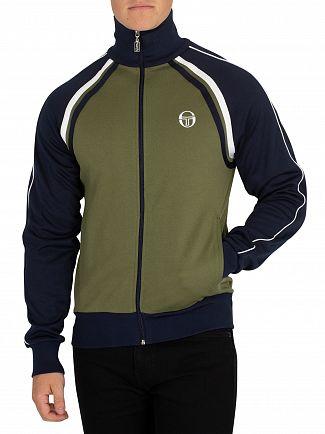 Sergio Tacchini Olivine/Navy Ghibli Logo Track Jacket