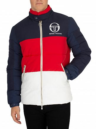 Sergio Tacchini Navy/Red/White Ice Puffer Jacket