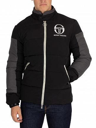 Sergio Tacchini Black/Grey Ice Puffer Jacket