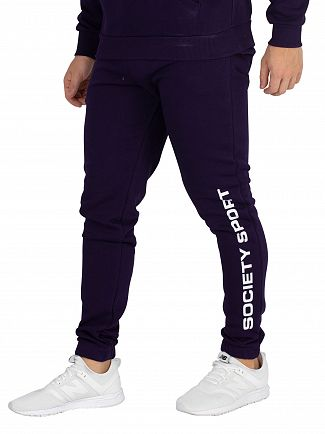 Society Sport Navy Flags Joggers