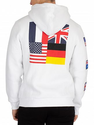 Society Sport White Flags Pullover Hoodie