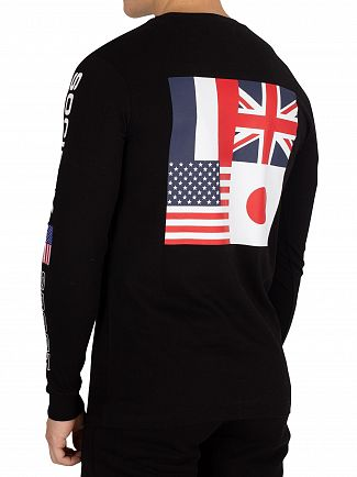 Society Sport Black No93 Flags Longsleeved T-Shirt