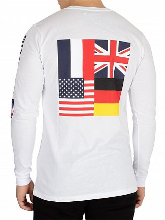 Society Sport White No93 Flags Longsleeved T-Shirt