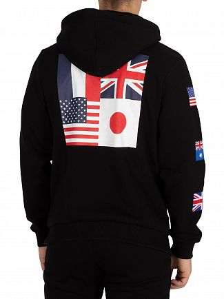 Society Sport Black No93 Flags Pullover Hoodie